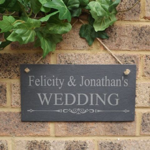 Personalised Wedding Slate Sign Plaque Wedding Decoration Keepsake Gift